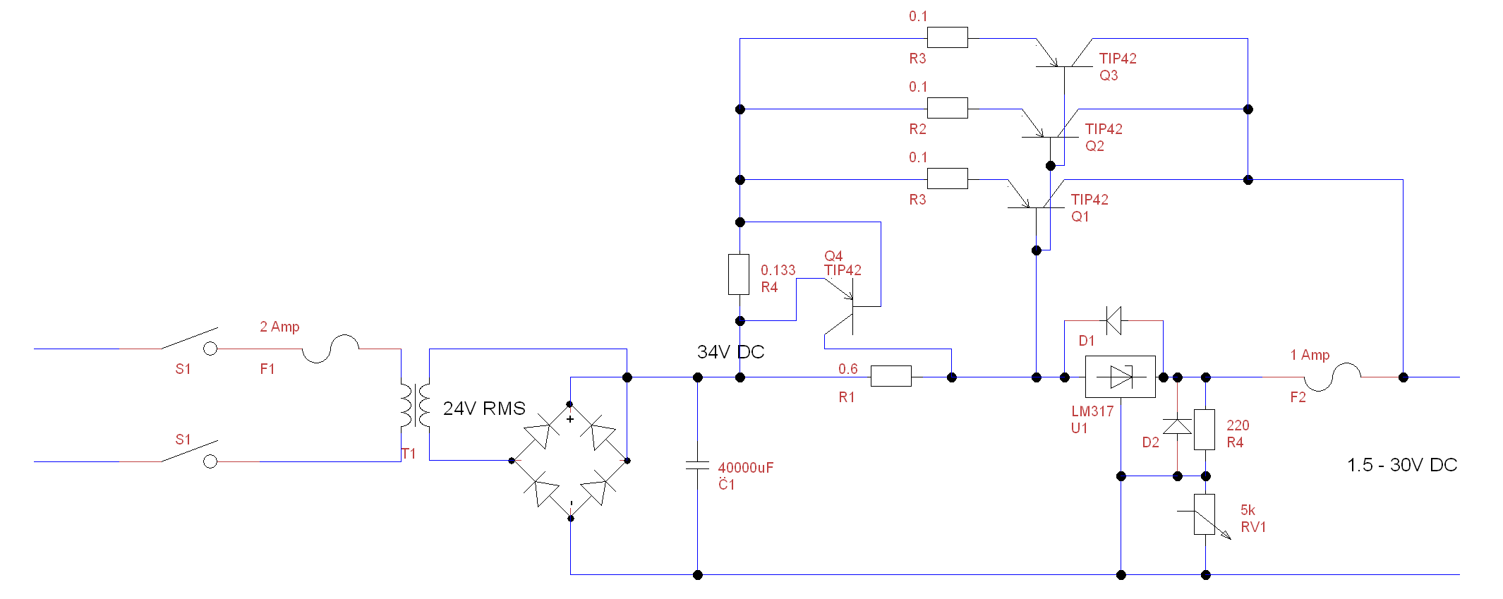 7amp Psu Circuit Diagram Of Power Supply