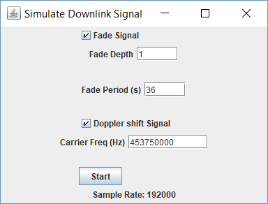 Simulating Doppler and Fade for small spacecraft / Cubesats